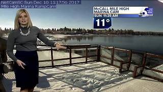 Inversion sticks around to start the week, snow possible by next weekend - Video