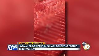 Worms found in salmon bought at Costco - Video