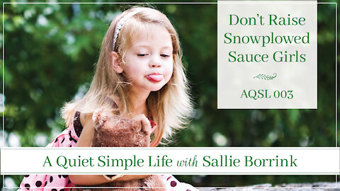 Don't Raise Snowplowed Sauce Girls - A Quiet Simple Life Podcast