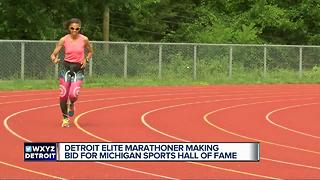 Detroit elite marathoner making bid for Michigan Sports Hall of Fame - Video