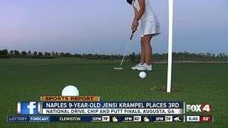 Jensi Krampel wins 3rd place at Drive, Chip and Putt Championship in Augusta - Video