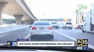 Officials cracking down on drunk driving over holiday weekend