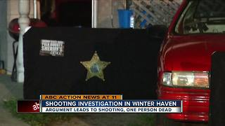 Shooting investigation in Winter Haven - Video