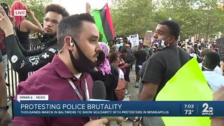 Thousands gather peacefully in Baltimore City to protest police brutality