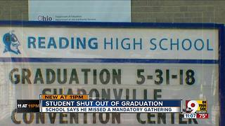 Student barred from walking in Reading High graduation, leaves in tears
