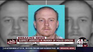 Suspect in Clinton officer's death arrested - Video