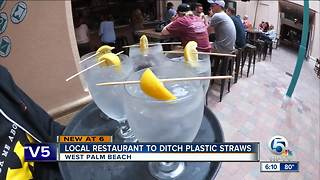 Palm Beach County restaurants ditching plastic straws to help the environment - Video