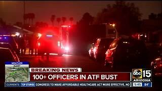 Over 100 officers involved in Valley ATF raid - Video