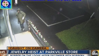 Surveillance video released in Parkville jewelry store robbery - Video