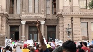 Protesters Rally Against SB4 Outside Texas State Capitol in Austin - Video