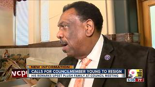 Calls for Councilman Young to resign - Video