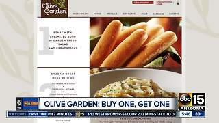 Check out this buy one, get one deal from Olive Garden - Video