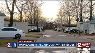 Bixby mobile home park residents requesting the city's help in ongoing water issues - Video