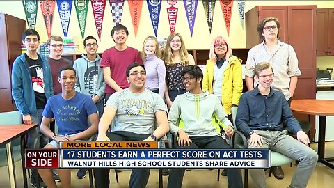 17 Walnut Hills students score perfect on ACT