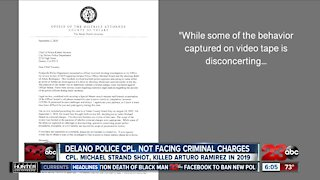 No criminal charges filed against Delano PD corporal related to deadly shooting