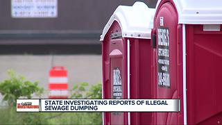 State investigating reports of illegal sewage dumping - Video