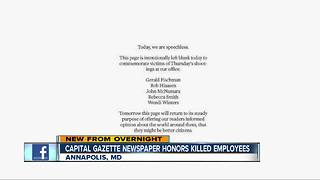 Capital Gazette honors employees killed in shooting - Video