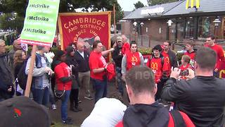 McDonald's workers strike in UK for first time - Video