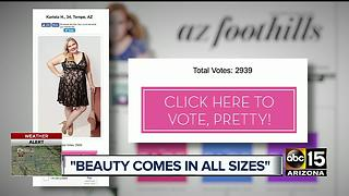Plus-size Tempe model fights to win beauty pageant - Video