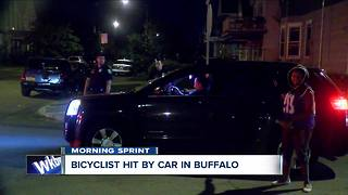Bicyclist hit by car in Buffalo - Video