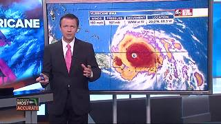 Hurricane Irma taking aim at Florida, possibly Carolinas | Thursday 5:30AM update with Greg Dee - Video