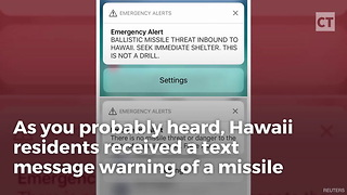 Hawaii Gov. Couldn't Alert State About Fake Missile Threat - Video