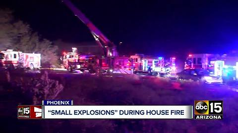 Ammo caused small explosions in Phoenix house fire