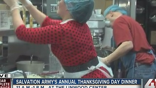 Salvation Army prepares for annual Thanksgiving Day dinner - Video