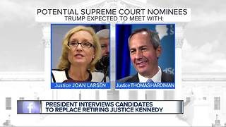 President Trump expected to meet with former Michigan Supreme Court justice
