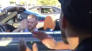 Conor McGregor MOBBED by Fan While Sitting in Las Vegas Traffic - Video
