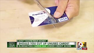 Should you cut up unused credit cards? - Video