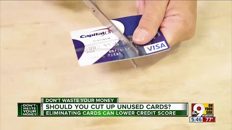Should you cut up unused credit cards?