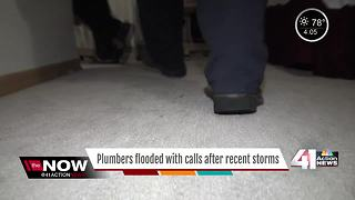 Plumbers busy after two record-breaking floods - Video