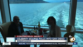 Celebrity Eclipse cruise ships arrives in San Diego