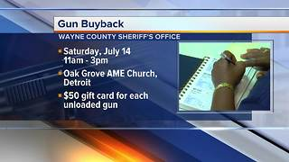 Wayne County Sheriff's Office buys back hundreds of guns from residents - Video