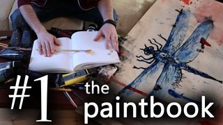 Artist Paints An Energetic And Vivacious Reproduction Of A Dragonfly In Watercolors  - Video