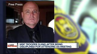 MSP trooper suing after being disciplined for attending AA meeting - Video