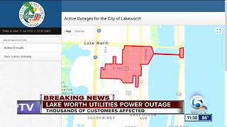 Power outage reported in Lake Worth - Video