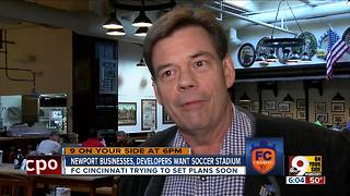Newport businesses, developers want soccer stadium - Video
