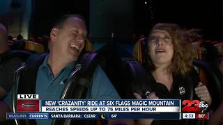 New Ride at Six Flags 23ABC and Six Flags 'Crazanity' - Video
