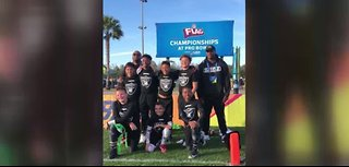 Local youth flag football team win