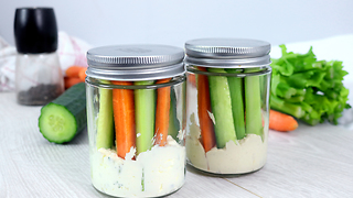 Healthy veggie snack recipe on the go