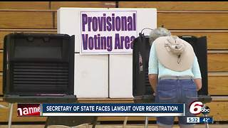 Indiana secretary of state faces lawsuit over voter registration - Video