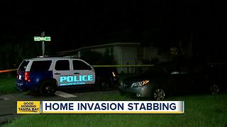 Man stabbed in New Port Richey home invasion - Video