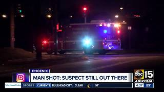 Man hospitalized after being shot in south Phoenix - Video
