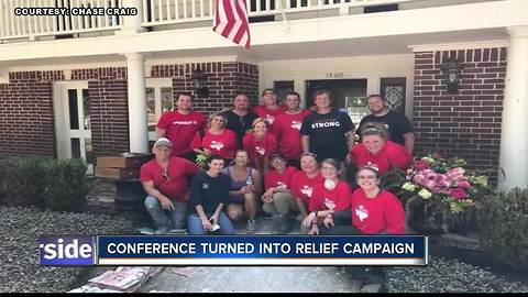 Real Estate Convention turns into a Relief Campaign