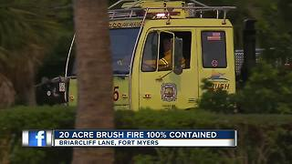 20 acre brush fire 100% contained - Video