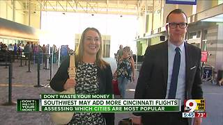 Southwest may add more Cincinnati flights - Video
