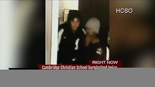 Cambridge Christian School burglarized twice - Video