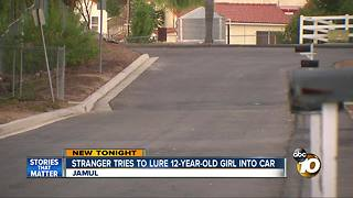Stranger tries to lure 12-year-old girl into car - Video